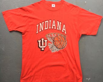 Indiana Hoosiers Basketball 1980s vintage t-shirt - red size X-large