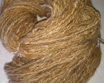 Handspun yarn- art yarn- alpaca yarn- Alpaca -1 skein 176yds- knitting- knit- knitting supplies- crochet- felting- wool- alpaca