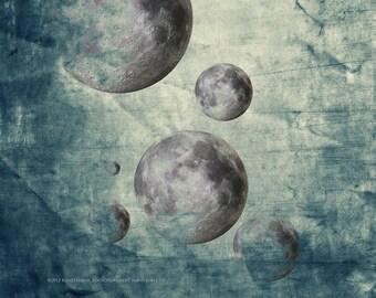 ZEN CURRICULUM MOON Abstract Meditation Original Art Inner LandscapePhotograph Print Wall Art Home Decor