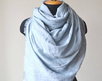 gray scarf cotton scarf outdoors gift chemo scarf mom gift fashion scarf birthday gift for women soft scarf long scarf pashmina scarf