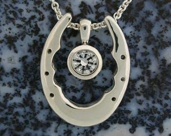 Horseshoe Enhancer Necklace Set Sterling Silver
