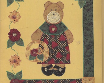 Vintage Country Borders Iron-On Fabric Applique Kit 72108, Blossom Bear, Die-Cut Shapes, Design Ideas & Instructions, What's New Team Design