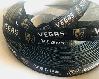 Vegas Knights, Hockey Ribbon, Knights, Grosgrain Ribbon, Cute Ribbon, Hairbow, Scrapbooking Embellishment, Las Vegas, Stanley Cup