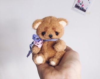 Artist teddy bear Brownie  by Alena Smirnova