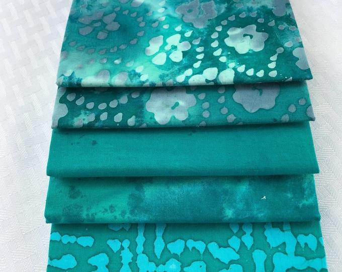 Turquoise Fat Quarter Bundle -2