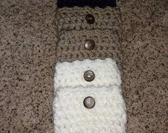 Crochet chunk boot cuffs