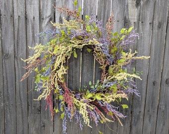 Spring Door Wreath, Berry Wreath, Spring Easter Wreath,  Mother's Day Gift, Grapevine Wreath, Door Wreath, Front Door Wreath, Large Wreath