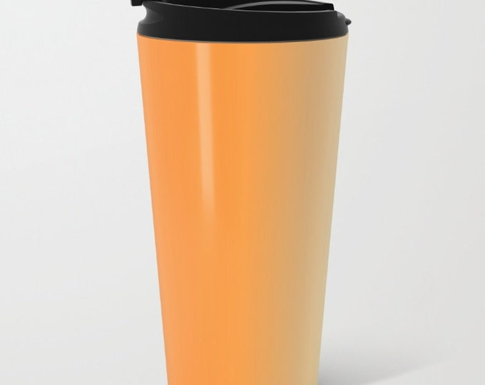 Orange Ombre Travel Mug Metal - Coffee Travel Mug - Orange to Yellow -  Hot or Cold Travel Mug - 20oz Mug - Stainless Steel - Made to Order