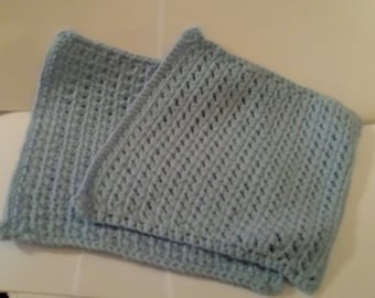 Set of two spa type washcloths
