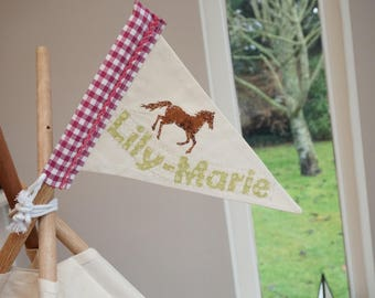 Personalised flag for teepee / tipi / wigwam / playtent