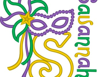 SAMPLE SALE, Mardi Gras Shirt - Masquerade Mask - Beads - New Orleans - Fat Tuesday - Ash Wednesday