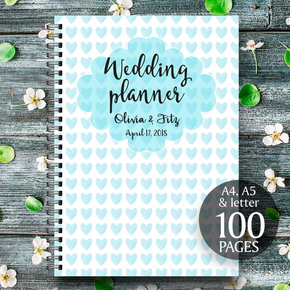 Light blue wedding planner, Light blue printable wedding kit, Light blue wedding binder, Light blue wedding checklist, Wedding organiser