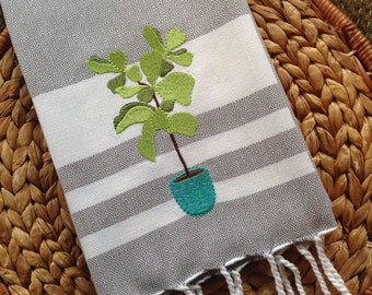 Fiddle Leaf Fig - FOUTA - Kay Dee - Cotton 20x30 Kitchen Hand Towel