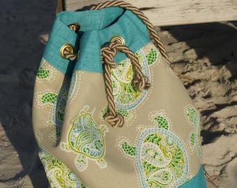 Turquoise Sea Turtle Bags