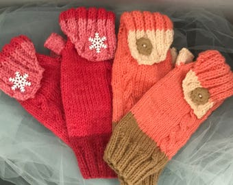 Fingerless Gloves with folded top