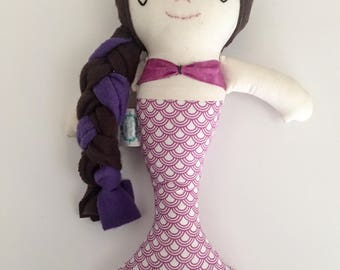 "13"" Mermaid Doll, Mermaid doll, Mermaid plush,Mermaid, Mermaids, rag doll, cloth doll, birthday gift, present, mermaid party"