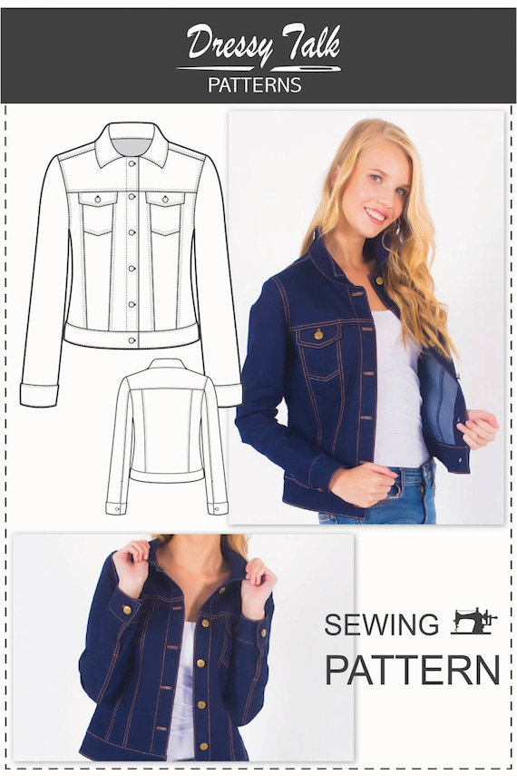 Denim Jacket Pattern Sewing Patterns Jean Jacket Pattern
