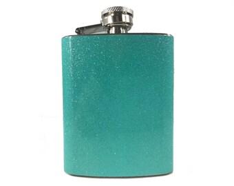 Blue Glitter Flask