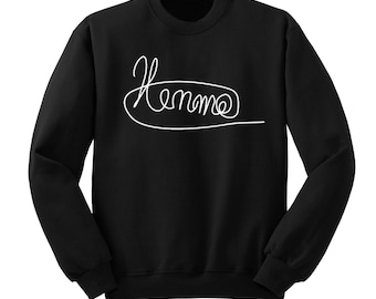 Luke Hemmings Signature Sweatshirt, 5SOS Shirt, 5 Seconds of Summer Autograph, Crew Neck Sweater, Band Shirt, Band Merch, Tumblr