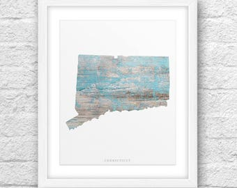 Connecticut Map, Connecticut Print, Connecticut Art,Connecticut State,Minimalist Art,Connecticut Printable,Instant Download,Connecticut 8x10