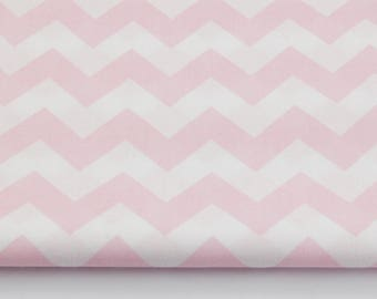 100% cotton fabric light pink piece 160 x 50 cm, textile printing, 100% cotton pink chevron