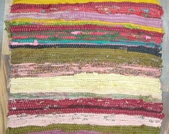 Woven Floor Mat Handmade Rug Area Rug Chindi Rug Handwoven Rug Multi Color Handmade Rug Gift Rug Yoga Mat
