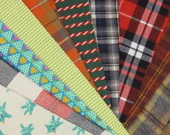 Flannel Scrap Bundle- 1 Pound of Scraps
