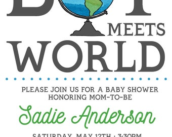 Boy Meets World baby shower- Custom digital or printed invitation + FREE SHIPPING!