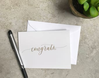 Congrats Greeting Card Set - Thanks - Congrats - Celebrate