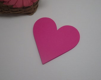 Heart Die Cuts - 45 PC 3 X 2.93 Paper Goods, Embellishments, Crafts, Scrapbooking, Cardmaking, Bulletin Boards, Advice Cards VTC-0143