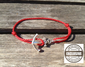 925 Silver anchor bracelet marine rope