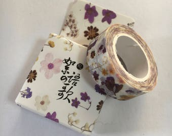 Japanese Masking Tape - Floral Design Tape - Masking Tape - Decorative Tape - Gift Wrapping Tape - Scrapbooking Tape - Japanese Tape