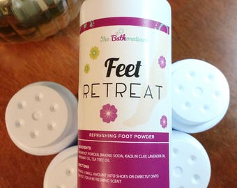 Feet Retreat Foot Powder, Shoe Powder, Itch Powder