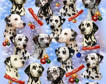 Dalmatian Dog Christmas Gift Wrapping Paper.