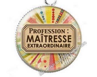 Pendant cabochon resin profession: teacher p58