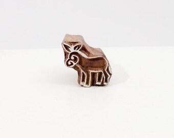 50% off Wood Stamp donkey 50b