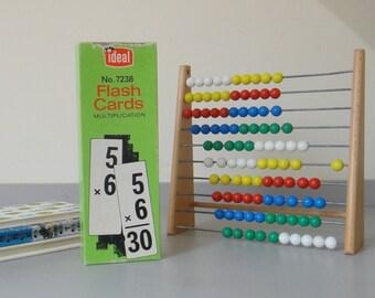 Vintage Multiplication Flash Cards - Boxed Set