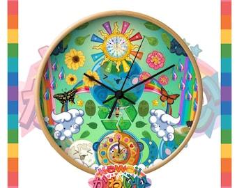 Kawaii Universe - Cute World Peace Showers Designer Clock