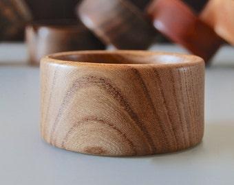 Ash Wood Boho Bangle Bracelet | Eco-friendly Jewelry