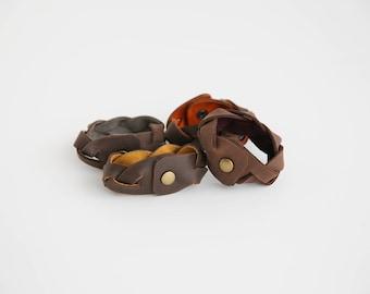 Impossible Braid Leather Cuff- Braided Bracelet