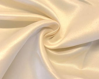 "Beige Matte Satin (Peau de Soie) Duchess Fabric Bridesmaid Dress 60"" Wide Sold BTY"