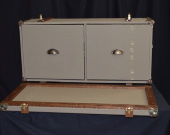 Steamer Trunk File Cabinet