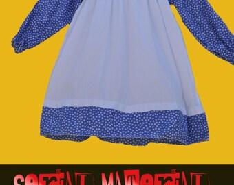Alice in wonderland Goldie Locks fairytale apron dress Hollie Hobbie Vintage Home made costume  womens dress