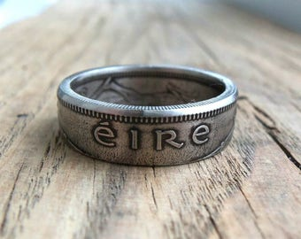 Irish Shilling Eire Coin Ring - Irish jewelry - Ireland Coin Ring - Eire Coin ring - Rings from Irish coins - Ireland