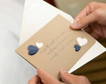 Wedding Day Card, To my fiancé, bride, groom, future wife, husband (months, days, hours)