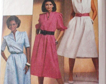 SALE - Easy to Sew Funnel Neckline Pullover Dress Pattern - Simplicity 6789 - Size 14, Bust 36