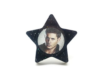 Dean Winchester Supernatural Statement Ring / Jensen Ackles Resin Gift for Her Demon Angel wings Castiel Cosplay Statement Jewelry For Geeks