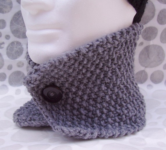 Mens Knit Cowl Pattern Handmade Scarf Knitting Pattern Digital