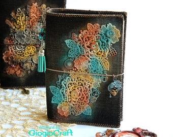 Fauxdori Travelers Notebook Midori MixedMedia 'Bronze Baroque' Jeans A6 'Venice Dream'