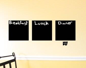 Kitchen Chalkboard. Vinyl Wall Decal. Chalkboard vinyl. Wall Decal. Wall sticker. Home decor decals.